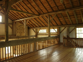 Cola barn home conversion for Barn loft homes